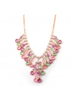 Fashionable Candy Color Sparkle Diamond Necklace For The Banquets