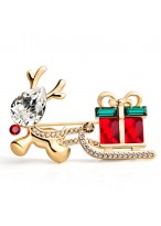 European Style High Quality Delicate Gorgeous Crystal Brooch
